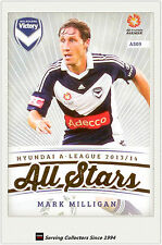 2013-14 A League Trading Cards All Stars AS9 Mark Milligan (Melbourne Victory)