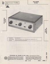 1960 EICO HF-65A PRE AMPLIFIER SERVICE MANUAL SCHEMATIC PHOTOFACT DIAGRAM FIX