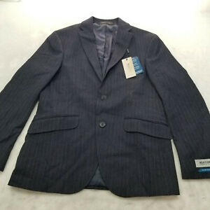 Kenneth Cole Reaction Men's Ready Flex Slim-Fit Suits NAVY 36S NEW WITH TAG