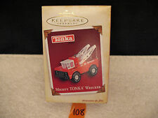 Hallmark Christmas Keepsake Ornament Die Cast Metal MIGHTY TONKA WRECKER  2005