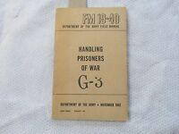 Korean War ARMY Manual Handling Prisoners of War FM 19-40  G3 linked