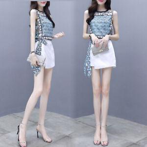 2019 Women Korean Style loose temperament wide-leg pants Elegant 2 Pic Set ZG9