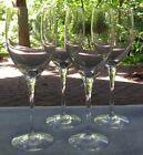 Set of FOUR Orrefors Crystal Illusion Claret Wine Goblets