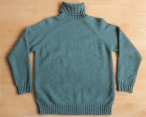 """Isles Knit Shetland Roll Neck Sweater, 40"""" Made in Scotland"""