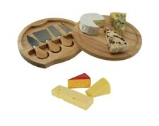 Apollo 5pcs Hevea Wood Cheese Serving Set With Integrated 4 Knife Compartment