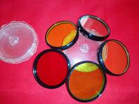 soviet vintage light filter M40,5x0.5 (5 pcs)