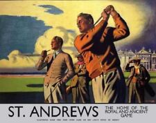 St Andrews golf metal advertising sign 15x20cm reproduction LNER wall plaque
