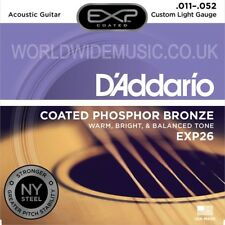 D'ADDARIO exp26 Custom Light ACUSTICA CHITARRA corde 011 - 052-Phosphor Bronze