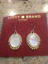 Lucky Brand Gold Tone And Pearl Hanging Earrings, NWOT