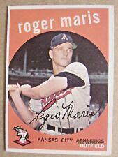 1959 TOPPS BASEBALL CARD #202 KANSAS CITY ATHLETICS ROGER MARIS