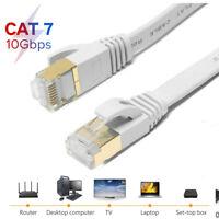 U-FTP apantallado M/ódem TV Conector RJ45 para Router SEBSON Cable de Red Ethernet Cat 7 LAN Patch Cable Plano 10m Ordenador 10Gbps