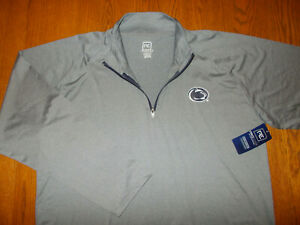 NWT PRO EDGE NCAA PENN STATE 1/4 ZIP LONG SLEEVE GRAY TOP MENS 2XL RETAIL $34