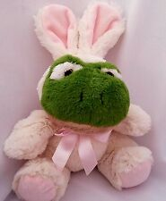 "Animal Adventure Frog Plush Stuffed Animal Bunny Costume 7"" Green White"