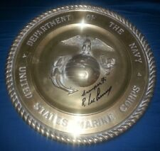 R. LEE ERMEY Authentic Hand-Signed FULL METAL JACKET MARINE PLAQUE (EXACT PROOF)