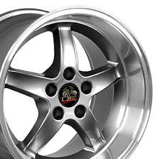 17x10.5/17x9 Rims Fit Mustang Cobra R Wheels Gunmetal Mach'd SET