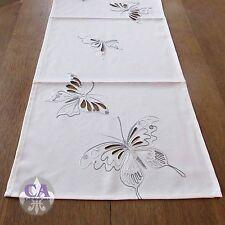 #10566 Tischläufer Tischdecke Schmetterlinge 40x90 Shabby Landhaus Stickerei
