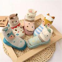 Kids Crib Shoes Girl Boy Floor Socks Warm Slippers Infant Baby Toddler Anti-slip