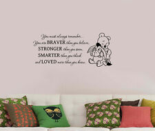 Walt Disney Winnie the Pooh Quote Wall Sticker Bear Vinyl Decal Art Decor wtpo15