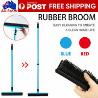 Rubber Broom For Dog Cat Pet Hair Car Windows Handle Sweeper Squeegee Floor NEW