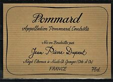 Etiquette de Vin - Bourgogne - Pommard - Neuve- Never Stuck - Réf.n°21