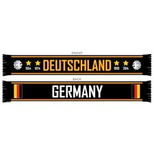 GERMANY 4 STARDOUBLE SIDED SCARF FIFA WORLD CUP 2018 MADE IN THE UK 100% ACRYLIC