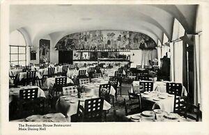 Vintage RPPC Postcard Romanian House Restaurant Main Dining Hall, New York NY