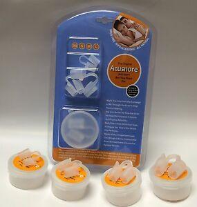Sleep Aid Acusnore Snoring Solution Air Flow Nose Pin Sleep Apnoea 4 Pack Apnea