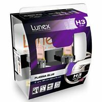 2x Lunex H3 Plasma Blue Halógeno + 80% más de luz 4200K
