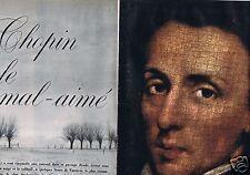 Coupure de presse Clipping 1960 Fréderic Chopin (10 pages)