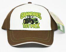NEW John Deere Toddler Cap Grandpa's 1st Pick Brown and White LP22169
