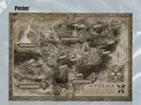Resident Evil 8 Village Collector's Edition PS4 PS5 XBOX X POSTER PRINT MAP ART