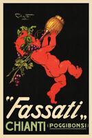 171035 Fassati Chianti Fine Wine Grapes Italian Drink LAMINATED POSTER AU