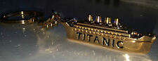 TITANIC Key Chain Fob Ring Gold Cruise Liner Titan Movie Film Sunk in Atlantic