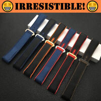 RACER Nylon Rubber 20mm 22mm Watch Strap for Omega Seamaster Planet Ocean (New)