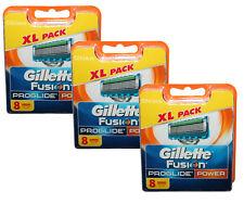 24x Gillette Fusion ProGlide Power 3x 8er razor blades Gilette Gillete Gilete
