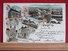 Farblitho - Grüsse aus Olmütz / Olomouc - gel 1898 nach Kremsmünster   m1
