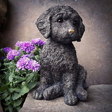 Antique Resin Sitting Cockapoo Puppy Dog Home Statue Sculpture Figurine Ornament