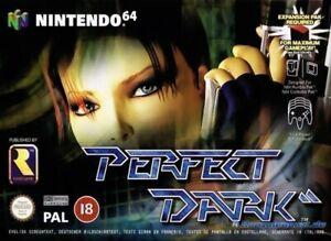 N64  Nintendo 64 game Perfect Dark boxed