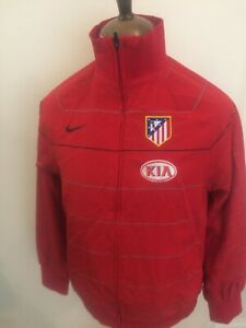 NIKE ATHLETICO MADRID FOOTBALL TRACKSUIT TOP SIZE MEDIUM RED