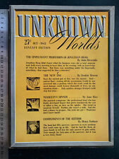 UNKOWN WORLDS MAGAZINE rare 1942 pulp sci-fi fantasy horror mag John Campbell