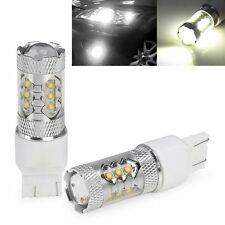 2X 80W High Power LED 7443 7000K White 1920 Lumen Reverse Bulb Backup Light