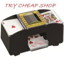AUTOMATIC PLAYING CARDS SHUFFLER POKER CASINO ONE/TWO DECK CARD SHUFFLE SORTER