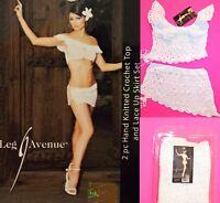 NWT Leg avenue Crochet Top and lace up Skirt SET, M/L