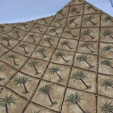 Heavier Stiff Palm Tree Bamboo Tan Cotton Blend 60