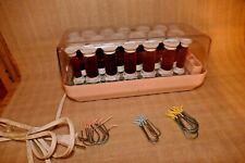 Remington Hairsetter KF-20-1 Brown Velvet Hot Rollers Curlers Clips Complete
