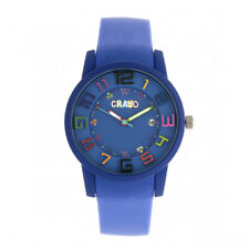 Crayo Festival Purple Silicone Band Unisex Watch with Date CR2004