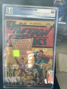 Action Comics #80 Graded 3.0 1945 2nd App. First Cover Mr Mxyztplk Cover