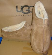 UGG Australia NEUMAN Chestnut Suede Sheepskin Slippers Men Size US 8 NEW #3234