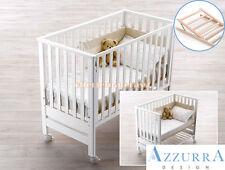 Lettino Azzurra Design Contact Bianco con rete antirigurgito bimbi infanzia
