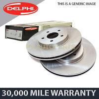 2X FRONT DELPHI BRAKE DISCS FOR PEUGEOT 407 607 2.2 HDI 170 2.7 3.0 2.0 2000-